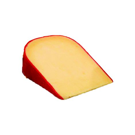 Pre-Wrapped Van Kaas Red Wax Gouda Cheese 0.5 LB