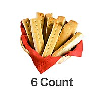 Bakery Breadsticks Garlic 6 Count