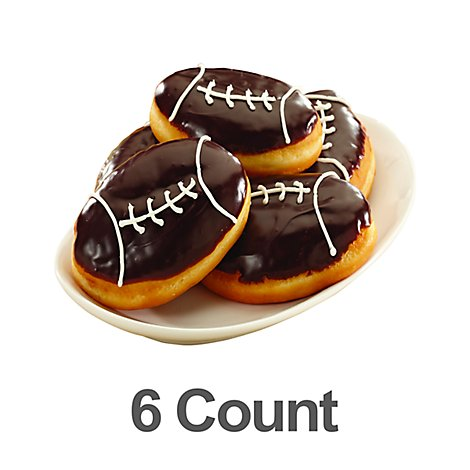Donuts Football Shaped 6ct