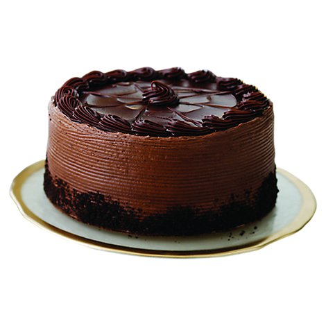 Bakery Cake With Chocolate Marble Double Dutch Fudge 8 Inch 2 Layer