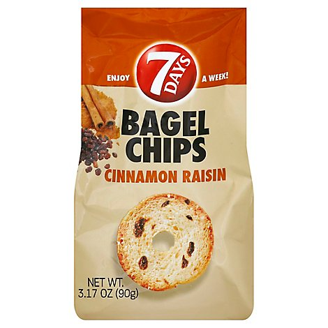 7DAYS Bagel Chips Cinnamon Raisin - 3.17 Oz