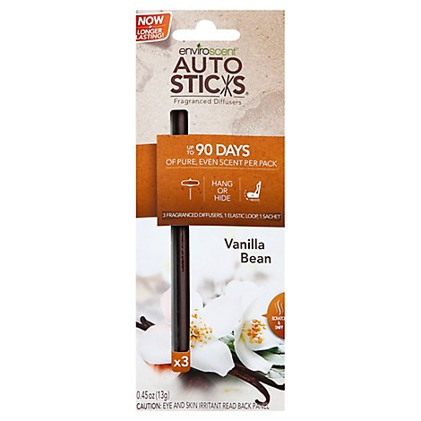 Autosticks Infusers Vanilla Bean - 3 Count