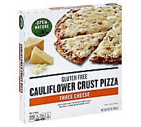 Open Nature Pizza Cauliflower Crust Three Cheese Gluten Free Frozen - 11.3 Oz