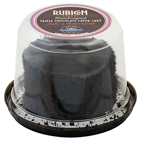 Rubicon Bakers Triple Chocolate Cake Ghirardelli 4inch - Each