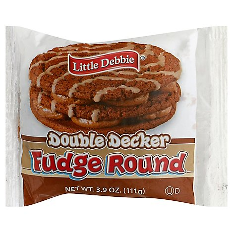 Little Debbie Round Fudge Snack Cakes - 3.9 Oz