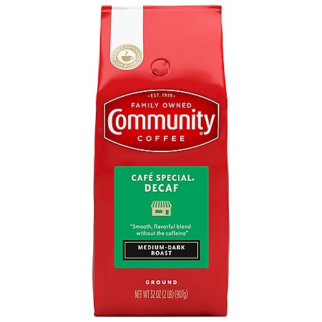Community Coffee Cafe Special Decaf Grnd - 2 Lb