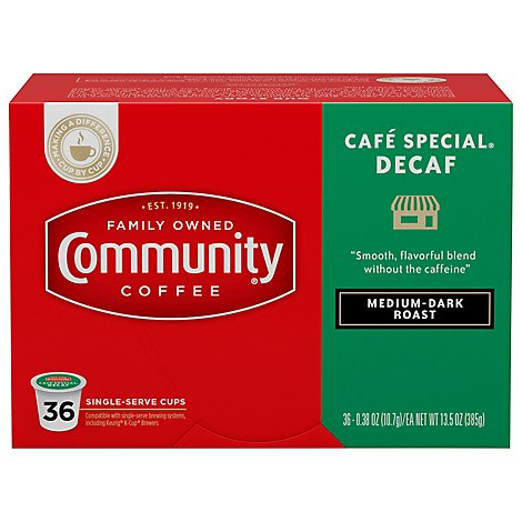 Community Coffee Cafe Special Decaf - 36 Count