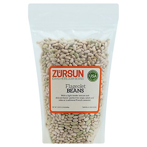 Zursun Heirloom Beans Flageolets Beans - 1.5 Lb