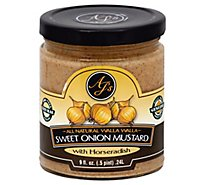 Ajs Edible Sweet Onion Mustard Horseradish - 9 Oz