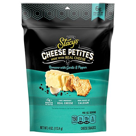 Stacys Cheese Petites Romano And Black Pepper - 4 Oz