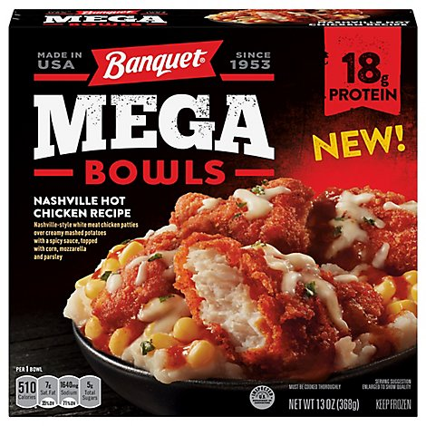 Banquet Mega Bowl Nashville Hot Chicken - 13 Oz
