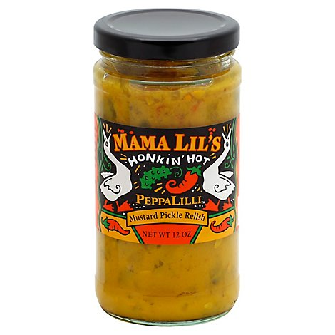 Mama Lils Peppalilli Hot Mustard Relish - 12 Oz