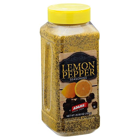 Adams Lemon Pepper - 26.8 Oz