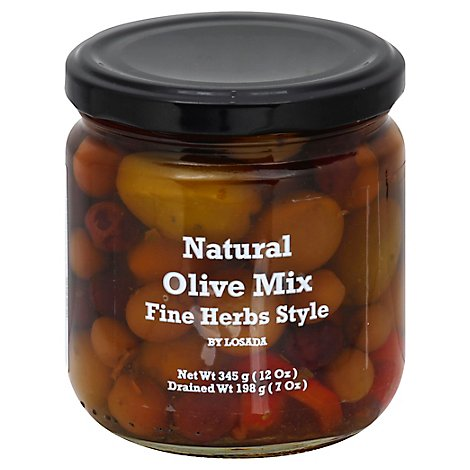 Dequmana Mixed Olives And Herbs - 12 Oz