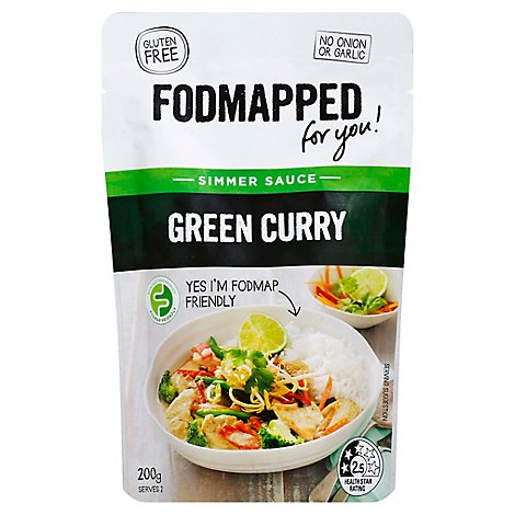 Fodmapped Simmer Sauce Green Curry Pouch - 7 Oz