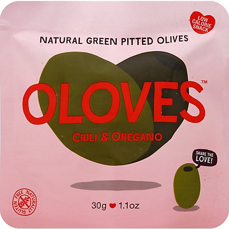 Oloves Olives Green Pitted with Habanero Chilles Hot Chilli Mama Pouch - 1.1 Oz