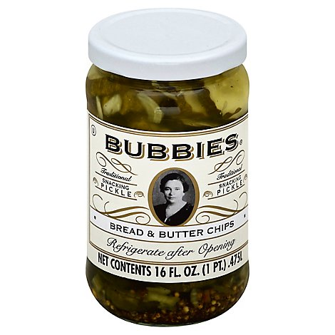 Bubbies Pickle Bread & Butter Chips Jar - 16 Fl. Oz.