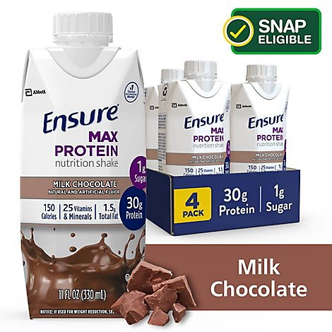 Ensure Max Protein Nutrition Shake Ready To Drink Milk Chocolate - 4-11 Fl. Oz.