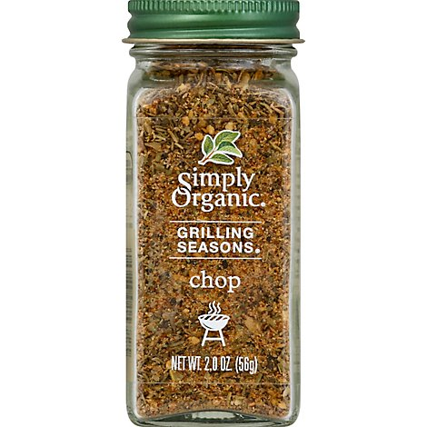 Simply Organic Grilling Seasons Chop Jar - 2 Oz