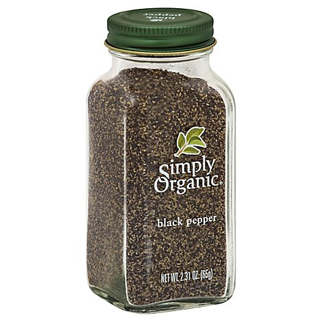 Simply Organic Black Pepper Jar - 2.31 Oz