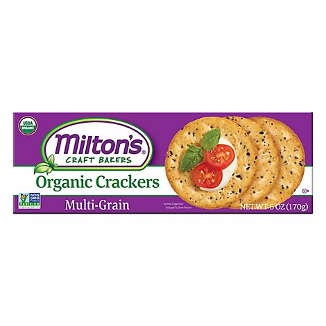 Miltons Crackers Multigrain Org - 6 Oz