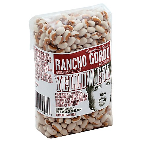 Rancho Gordo Yellow Eye Beans - 16 Oz