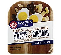 Egglands Best Hard Cooked Egg Chocolate Covered Almonds and Cheddar - 3.4 Oz
