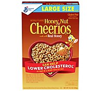 Cheerios Honey Nut Cereal Whole Grain Oat Sweetened Real Honey - 15.4 Oz