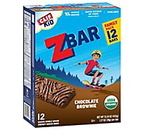 CLIF Kid ZBar Organic Chocolate Brownie Box - 12-1.27 Oz