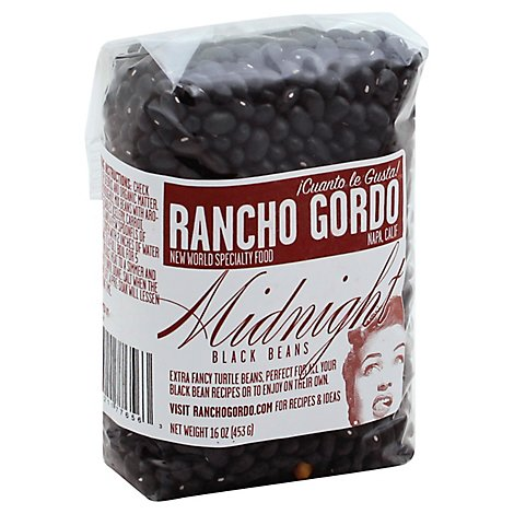 Rancho Gordo Midnight Black Beans - 16 Oz