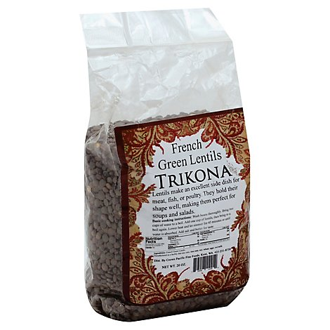 Trikona Bean French Green Lentils - 20 Oz