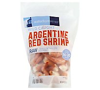 waterfront BISTRO Shrimp Argentine Red Raw Wild Caught Shell & Tail On 16 To 20 Count - 32 Oz