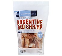 waterfront BISTRO Shrimp Argentine Red Raw Wild Caught Shell & Tail On 13 To 15 Count - 32 Oz