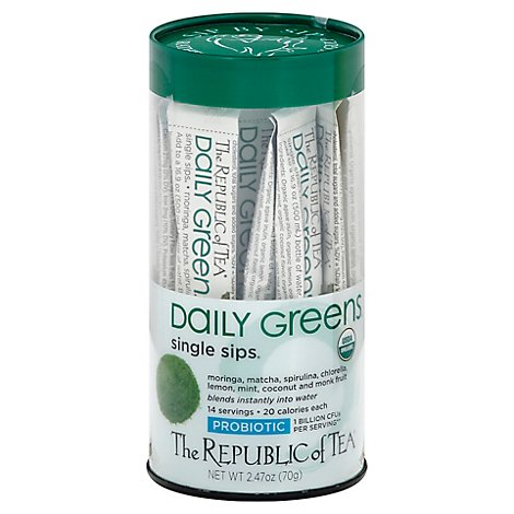 Republic Of Tea Daily Green Single Sip - 14 Count