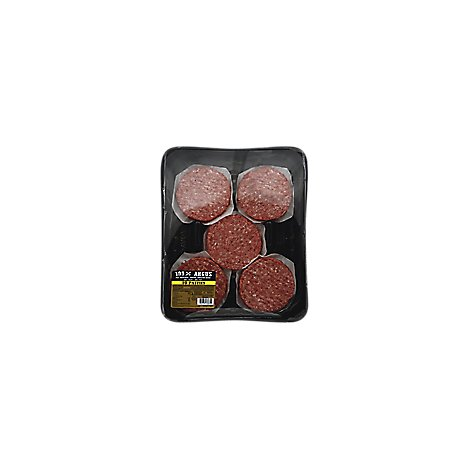 Meat Counter Ground Beef Hamburger Patties 80% Lean 20% Fat Angus - 2 Lb.