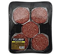 Meat Counter Beef Ground Beef Patties 80% Lean 20% Fat Angus - 2 Lb