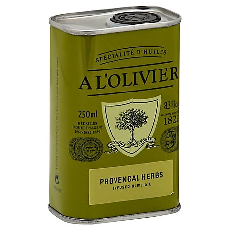 A LOlivier Olive Oil Extra Virgin Infused Provencal Herbs Can - 8.3 Fl. Oz.