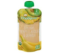 Happy Baby Organics Bananas Pineapples Avocado & Granola - 4 Oz