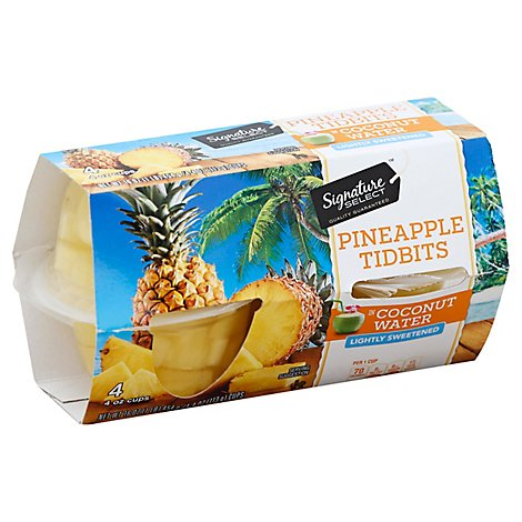 Signature SELECT Fruit Cups Pineapple In Coconut Water - 4-4 Oz