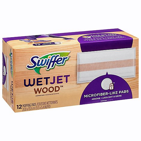Swiffer Swfr Wetjet Pad Wood - 12 Count
