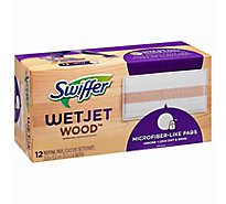 Swiffer WetJet Mopping Pads Refill Heavy Duty Wood - 12 Count