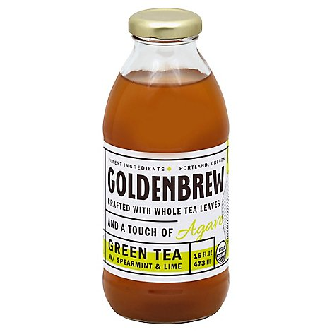 Golden Brew Green Tea W/Spearmint & Lime - 16 Fl. Oz.