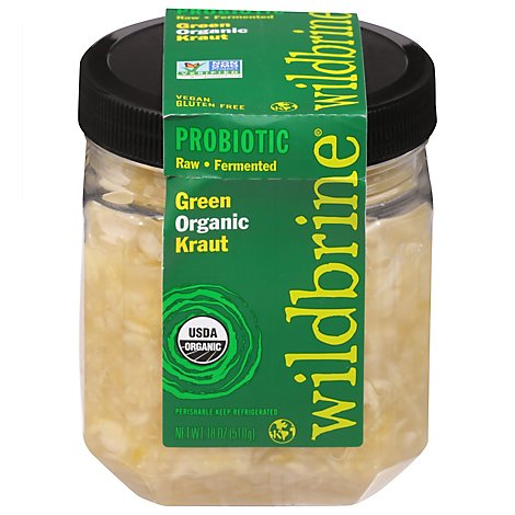 Wildbrine Kraut Raw Green - 18 Oz