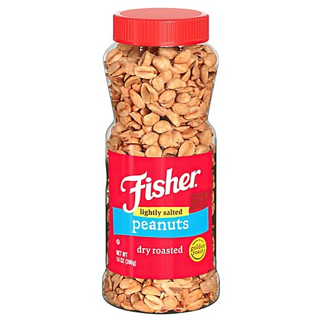 Fisher Peanuts Dry Roasted - 14 Oz