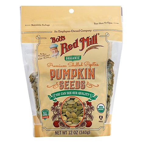 Bobs Red Mill Organic Pumpkin Seeds Premium Shelled Pepitos - 12 Oz