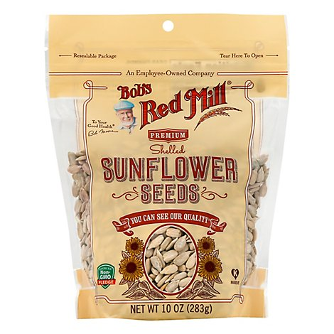 Bobs Red Mill Sunflower Seeds Premium Hulled Non GMO - 10 Oz