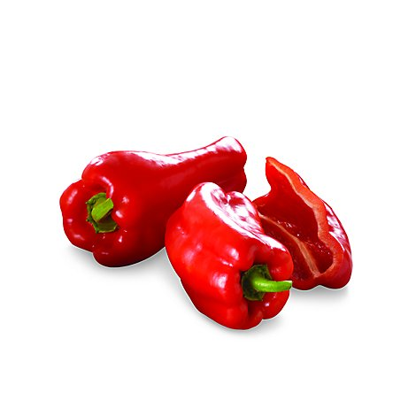 Peppers Bell Red Organic Prepacked - 2 Count