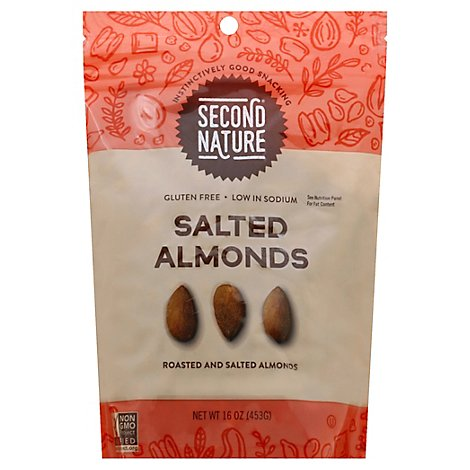 Second Nature Ca Almonds - 16 Oz