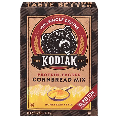 Kodiak Cakes Cornbread Mix Power Bake Homestead Style Box - 16.93 Oz