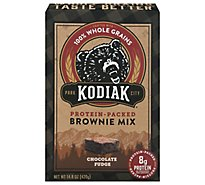 Kodiak Cakes Brownie Mix 100% Whole Grains Protein-Packed Chocolate Fudge Box - 14.82 Oz